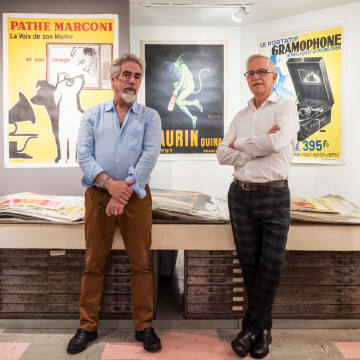 Robert Chisholm, left, with business partner Lars Larsson at the Chisholm Larsson Gallery