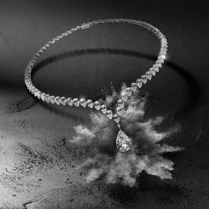 Messika white gold and diamond Love Drop necklace, collection from €50,000.