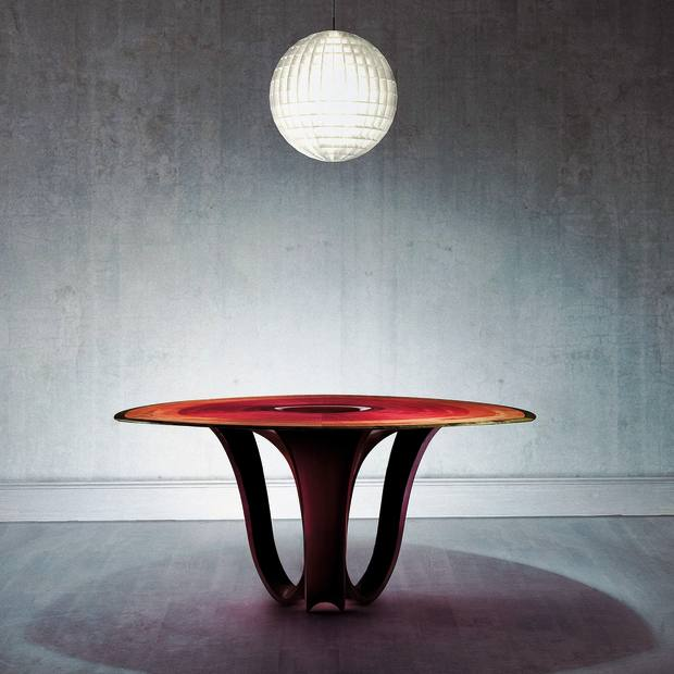 Studio Silverlining sycamore, lacquer and laminated composite Infinity table, £66,000