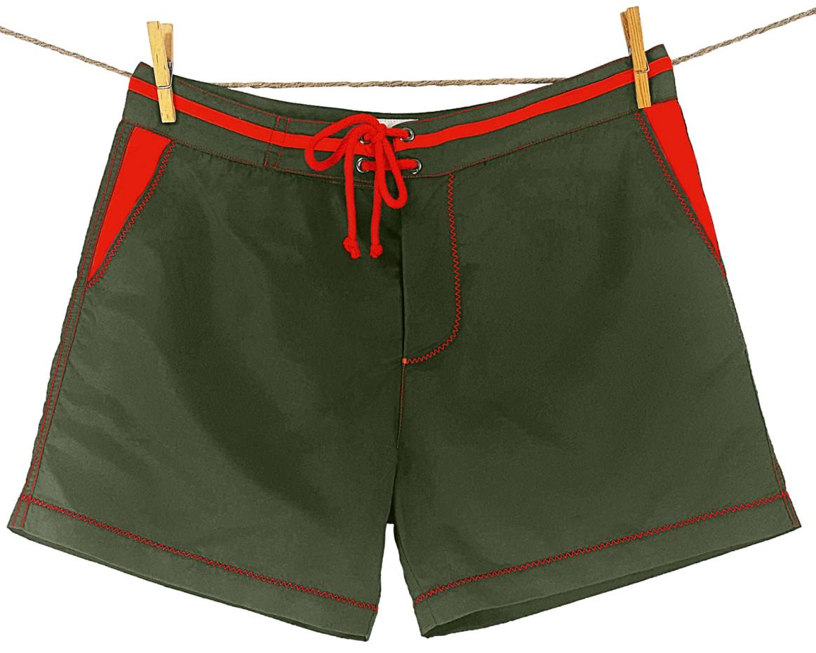 Upcycled swimming trunks for marine conservation