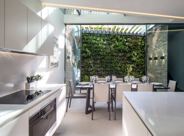 A living wall Echlin created in London's Chelsea, similar to one it is including at Kenure House, Holland Park, which has a guide price of £9m