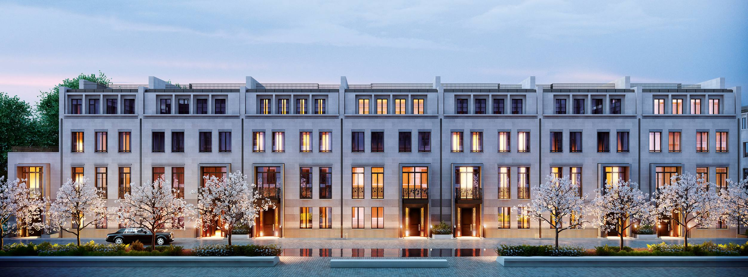 London's Chelsea Barracks includes 13 substantial townhouses, from £37m