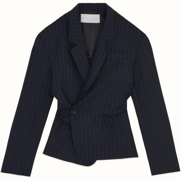 Fenty pinstripe double-breasted wool-blend blazer jacket, £840
