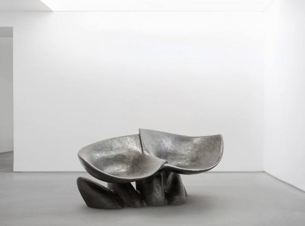 Wendell Castle for Carpenters Workshop Gallery bronze Impulse Gatherer bench, £90,000