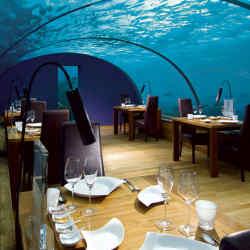 Ithaa Undersea Restaurant on Conrad Rangali Island in the Maldives.