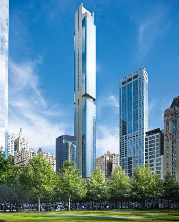 The 88-storey 125 Greenwich Street has273 condominiums, from $1.2m for a studio