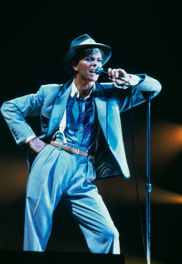 David Bowie during his Serious Moonlight tour, 1983