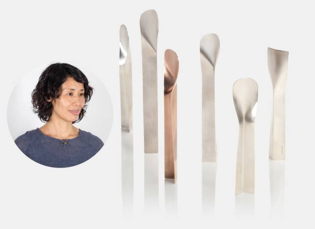 Kei Tominaga's sterlingsilver Standing Spoons, from£120
