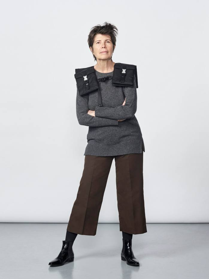 Architect Elizabeth Diller wearing her Yoke bag, £990 – one of two pieces she has designed for Prada