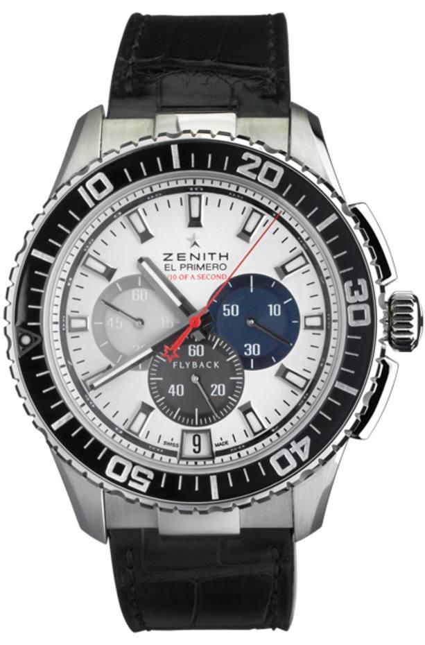 09b0040e791 Zenith stainless-steel El Primero Stratos Flyback Striking 10th ...