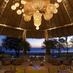 The main hall at Guacalito de la Isla's Mukul Beach, Golf & Spa resort