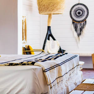 A bungalow bedroom at Villa Marie Saint-Barth