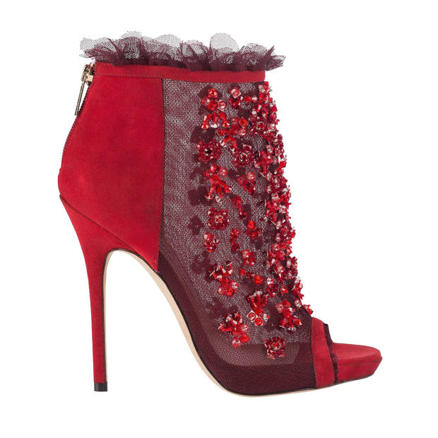 d9ab14e622db Jimmy Choo suede and embellished mesh Keri boots