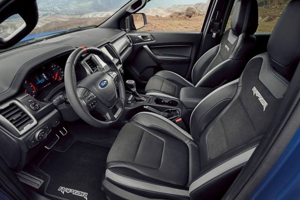 The luxurious interior of the Ford Ranger Raptor