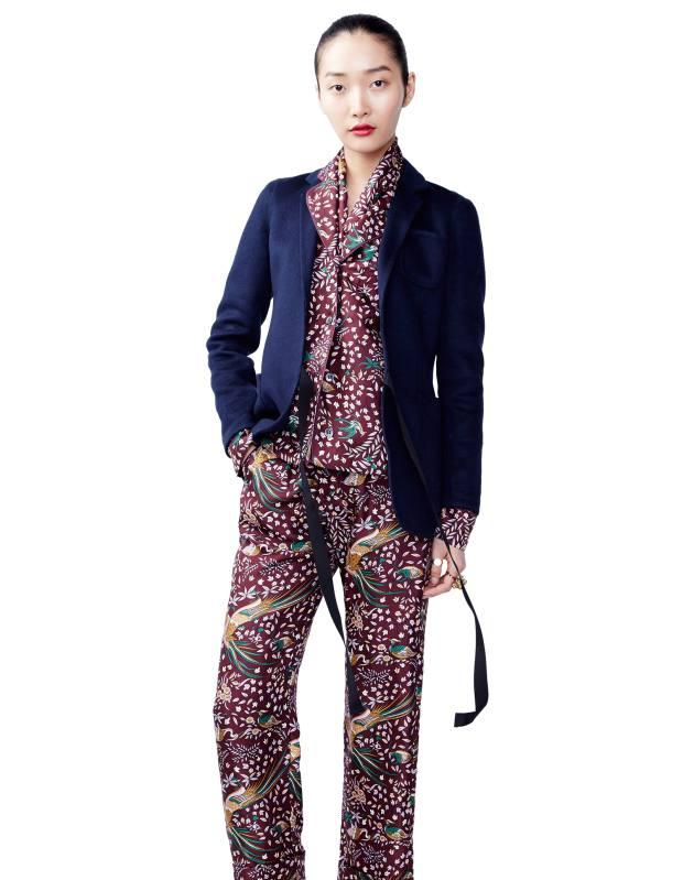 31f81f84a27e J Crew x Drake's silk shirt, £198, and matching trousers, £198