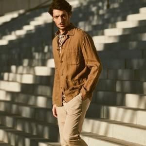Hartford linen jacket, €200, and cotton shirt, €130