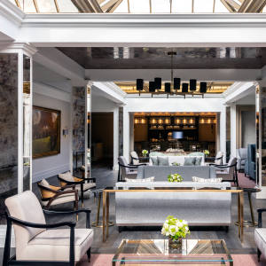 The club lounge now boasts the ambience of a country-house drawing room