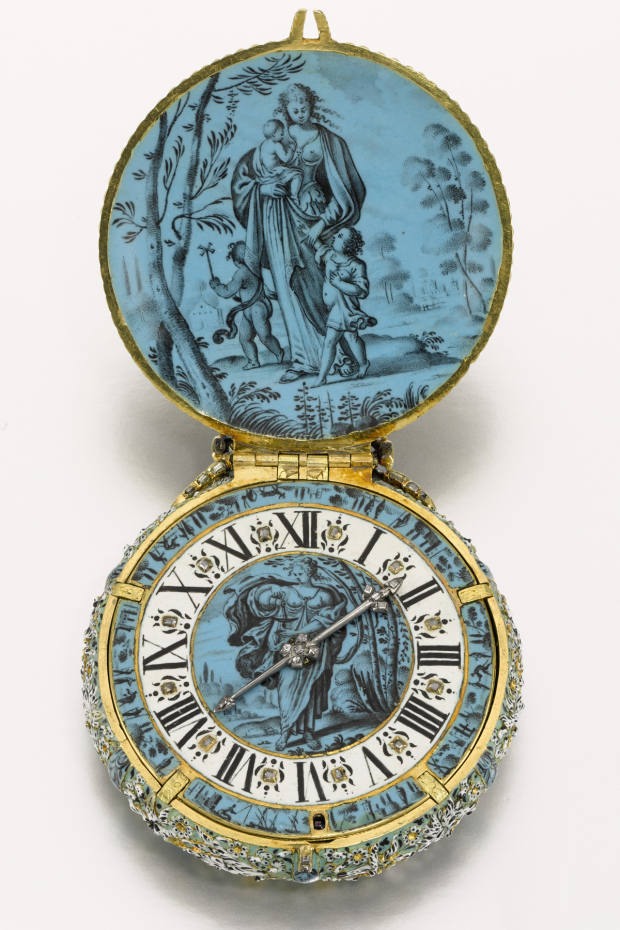 When it last appeared in 1986, Joehan Cremsdorff's masterfully executed gold- and diamond-set pocket watch (c1650, £700,000-£1m), painted in the rare Blois-school style, broke the record for the most expensive pocket watch ever sold at auction