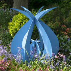 Protection, a steel and zinc sculpture by Pete Moorhouse (£2,450).
