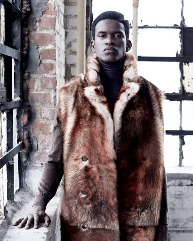Dior Homme Tuscan lamb‑fur sleeveless coat,£4,400. Etro woolrollneck, £380