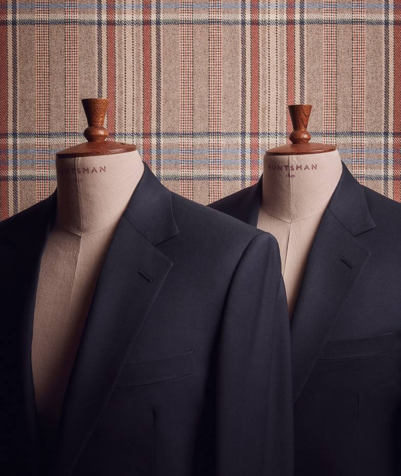 Huntsman's new Bespoke 100 service delivers a two-piece suit in six to eight weeks