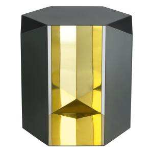 Donghia Origami side table (51cm x 46cm x 46cm) in mirror-polished and patinated brass, from Rubelli, €3,310. Also in steel