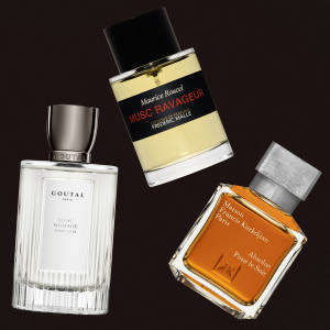 From top: Frédéric Malle Musc Ravageur, £170 for 100ml EDP. Maison Francis Kurkdjian Absolue Pour le Soir, €130 for 70ml EDP. Annick Goutal Musc Nomade, €150 for 100ml EDP