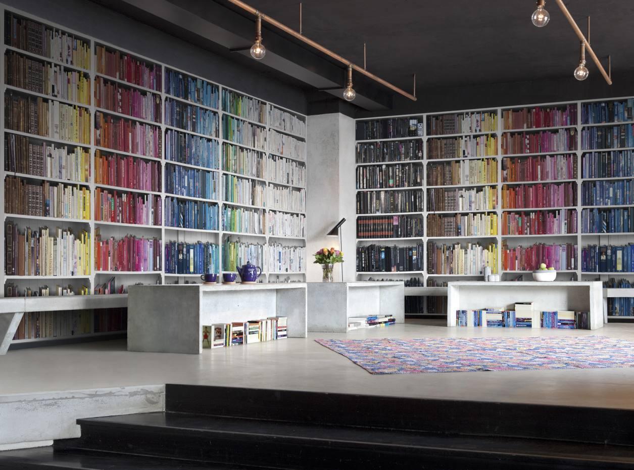 Mr Perswall's Library – Colourful Knowledge wallpaper, £27 per square metre