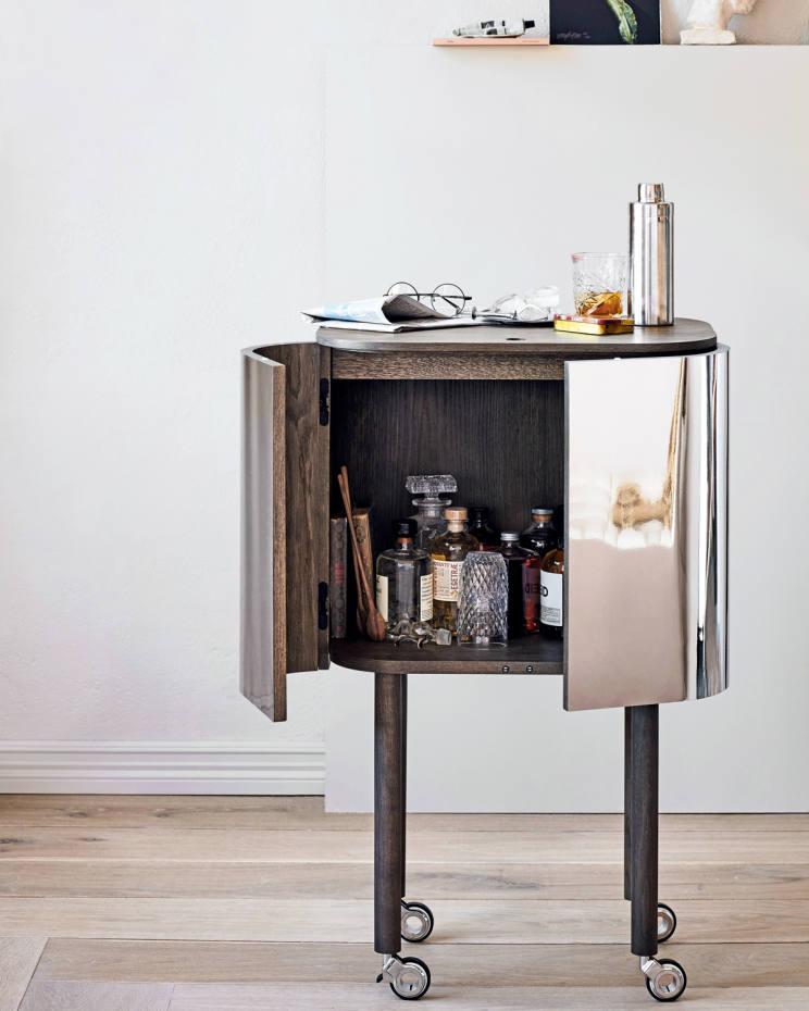 Northern oak and aluminium Loud bar cabinet, £1,677