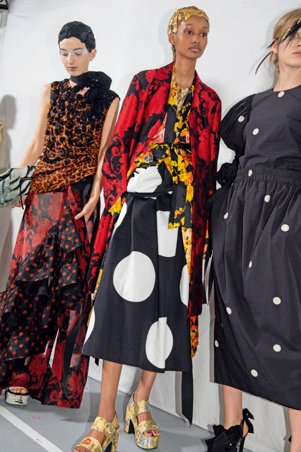 Pieces from the DriesVan Noten x Lacroix s/s 20 collaboration