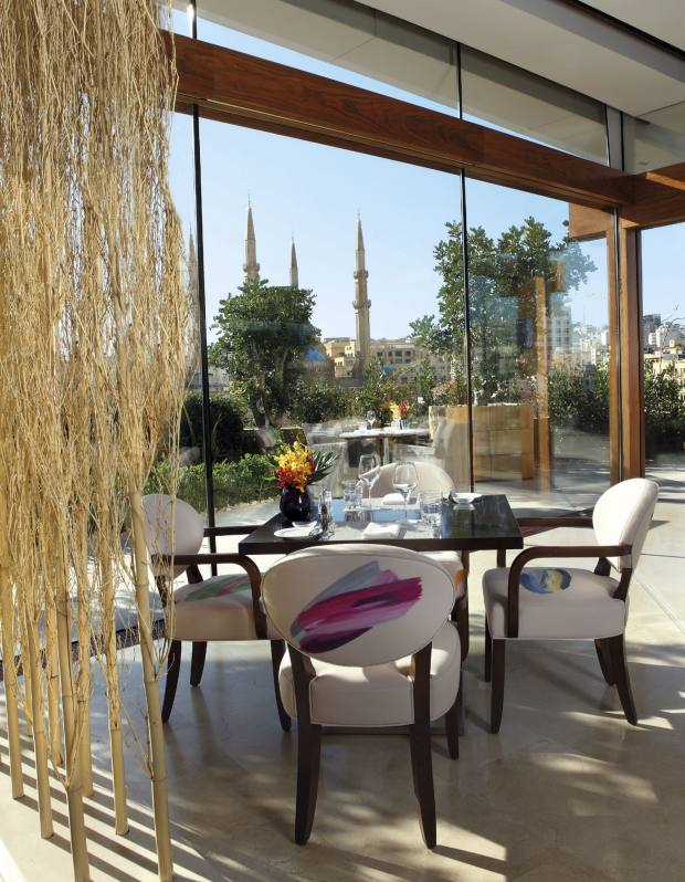 Indigo on the Roof at Le Gray hotel in central Beirut