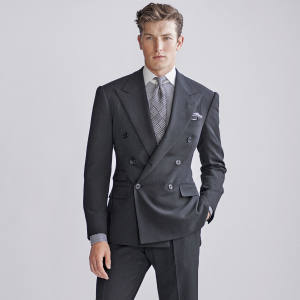 Ralph Lauren Purple Label wool suit, £3,875, cotton shirt, £315, and silk tie, £175