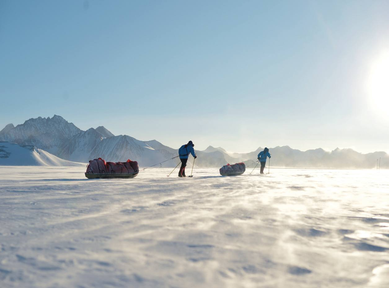 Ben Saunders and Tarka L'Herpinière on their expedition to the South Pole