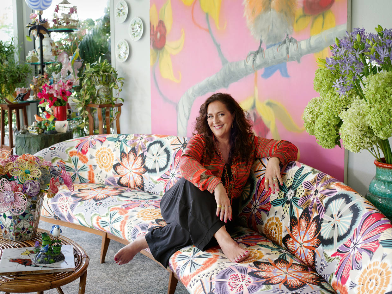 Missoni creative director Angela Missoni ather home in Sumirago, near Milan