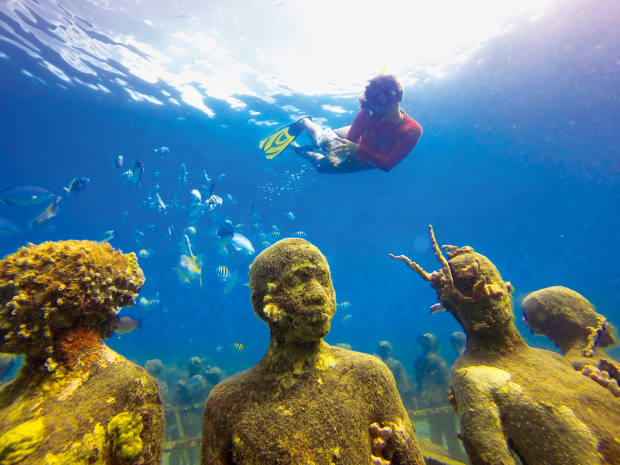 A popular site for snorkelling is the Grenada Underwater Sculpture Park