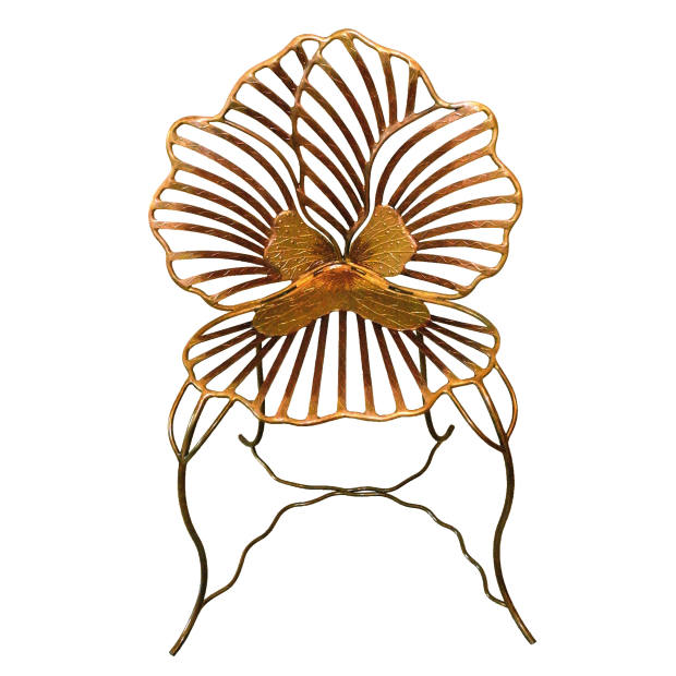 Hand-painted gold and bronze Large Pansy 3 chair, €5,000, from Galerie Matignon