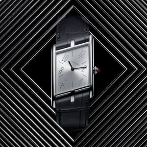 Cartier platinum and ruby Tank Asymétrique, limited edition of 100, £27,000