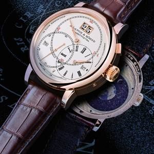 Front and back of the A Lange & Söhne rose-gold Perpetual Calendar Terraluna, £157,500