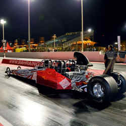The Dragster Xperience is one of the nocturnal activities offered at the Bahrain International Circuit