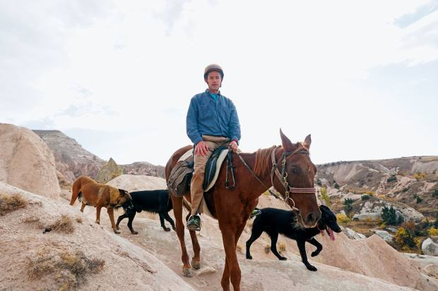 The author riding prize mare Hürrem