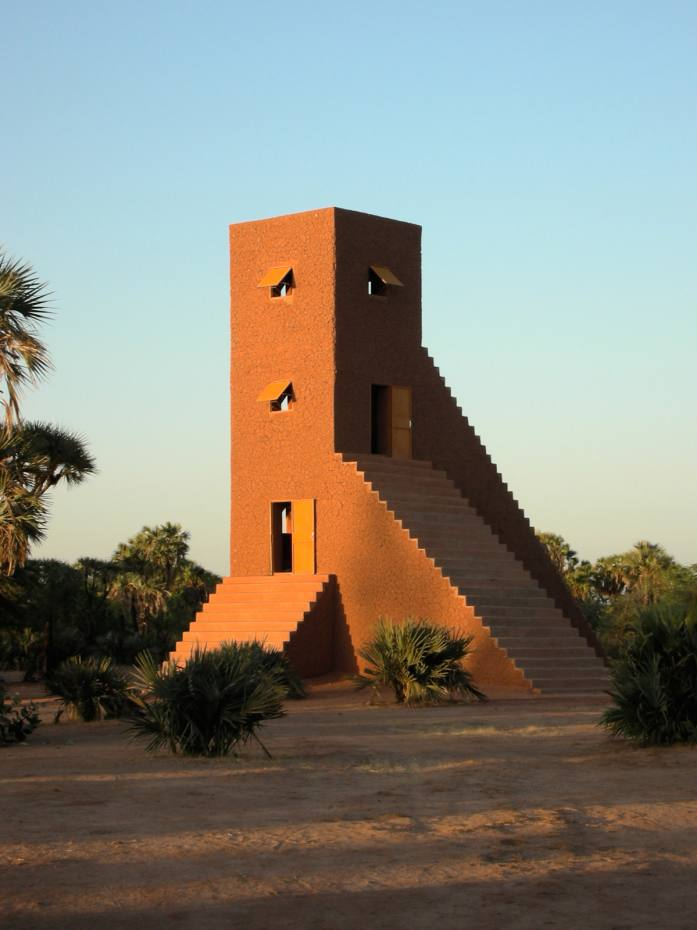 House to Watch the Sunset is one of several works by Not Vital in Agadez, Niger