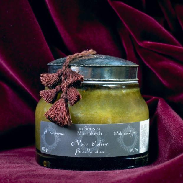 Les Sens de Marrakech Black Olive soap with eucalyptus, €28