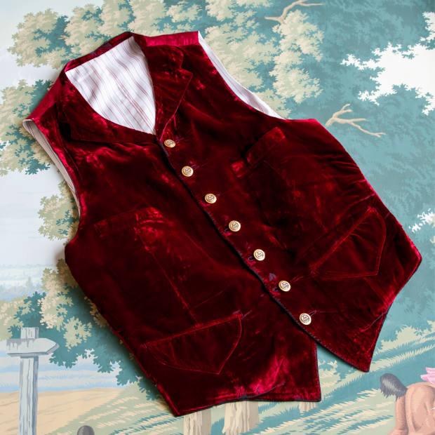 His waistcoat by Parisian tailor Le Débotté