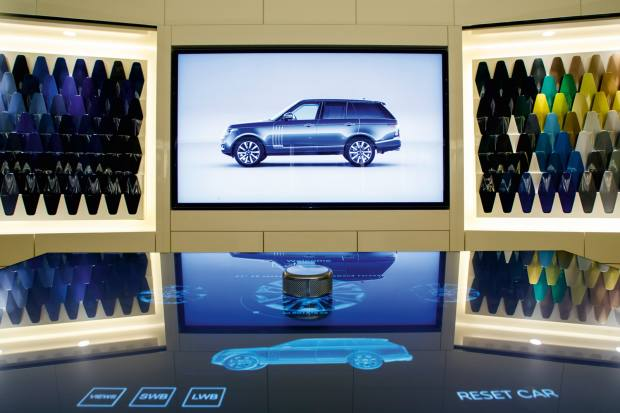 At Jaguar Land Rover buyers can visualise their bespoke car at the SVO Technical Centre