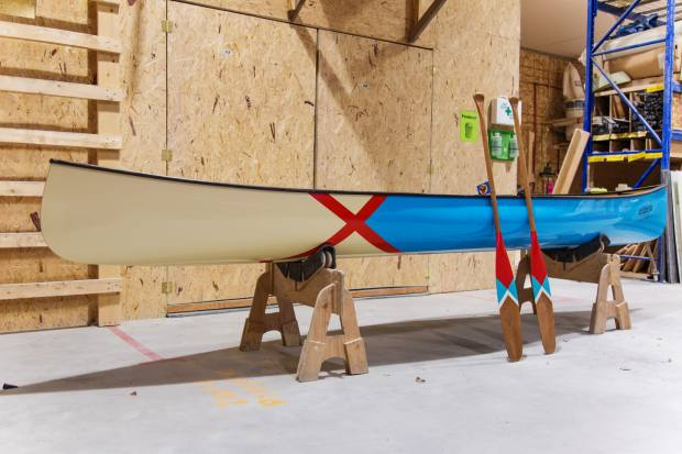 Matching customised canoes and paddles take eight to 10 weeks to produce