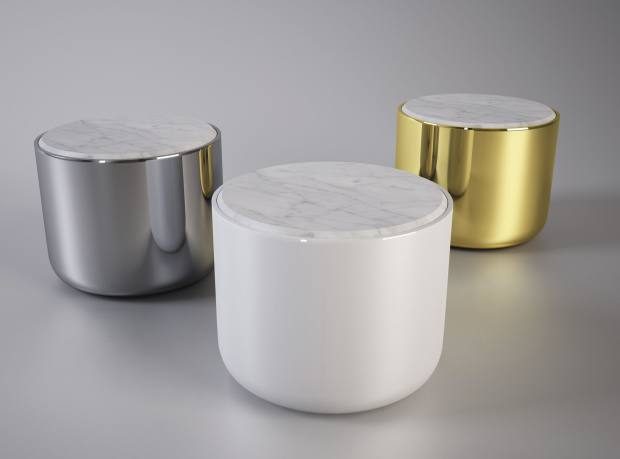 Bala Lo side tables with Carrara marble top by Jaime Hayon for Sé, £3,156 each