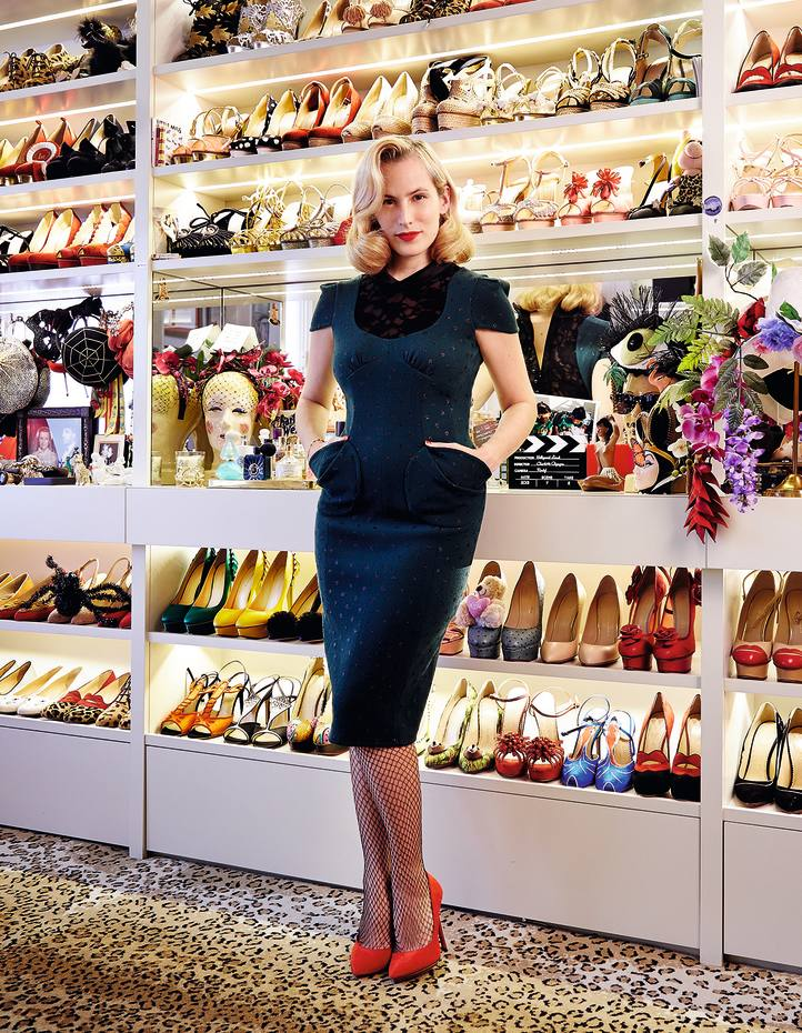 Charlotte Olympia Dellal photographed at her home in west London