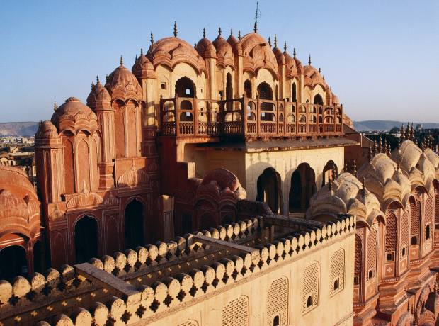 The Palace of Winds in Jaipur.