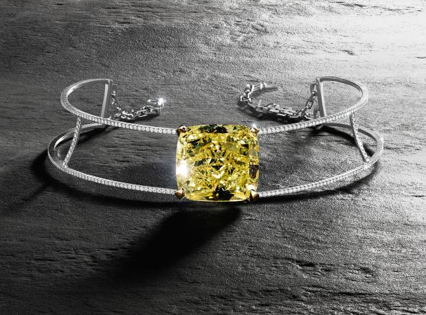 Messika white gold, diamond and yellow diamond Victoria necklace, price on request