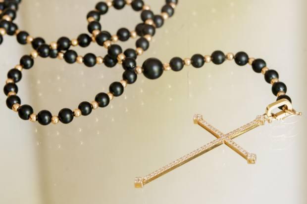 Gurvich King's Diane Kordas onyx rosary